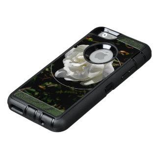White Rose OtterBox Defender iPhone Case