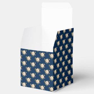 White Rose Pattern (navy blue) Favor Box