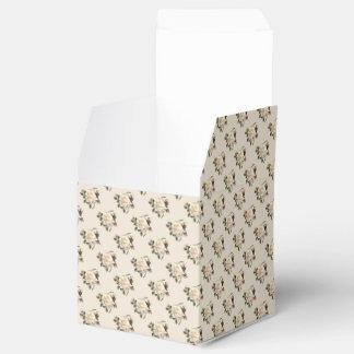 White Rose Pattern (sand) Favor Box
