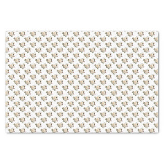 White Rose Pattern Tissue Paper