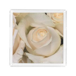White Rose Perfume Tray Gift