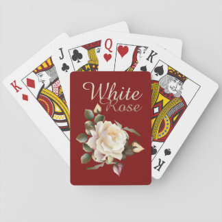 White Rose Playing Cards