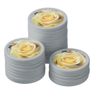 White Rose Poker Chip Set