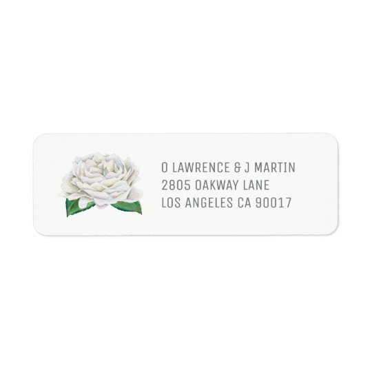 White Rose Return Address Labels