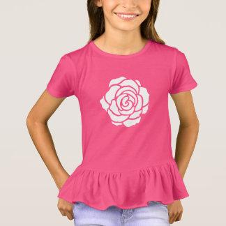 White Rose Ruffle T-Shirt (Child)