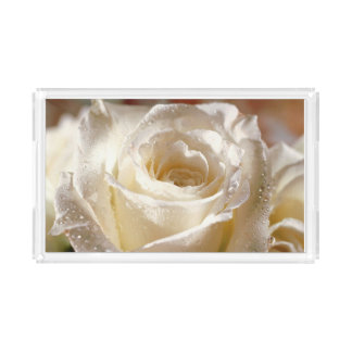 White Rose Serving Tray
