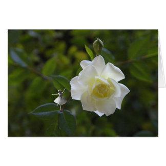White Rose Shadow Fairy Card