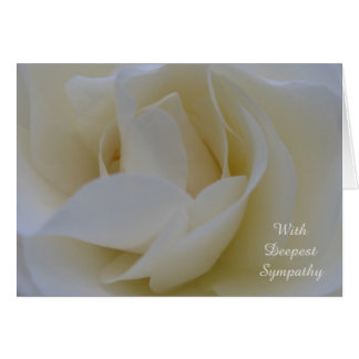 White Rose Sympathy Card
