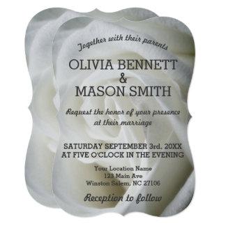 White Rose textured Wedding Card