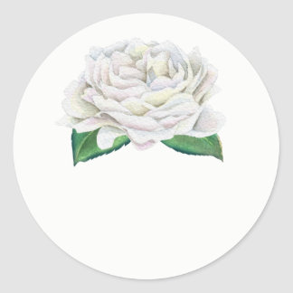White Rose Wedding Favor Stickers