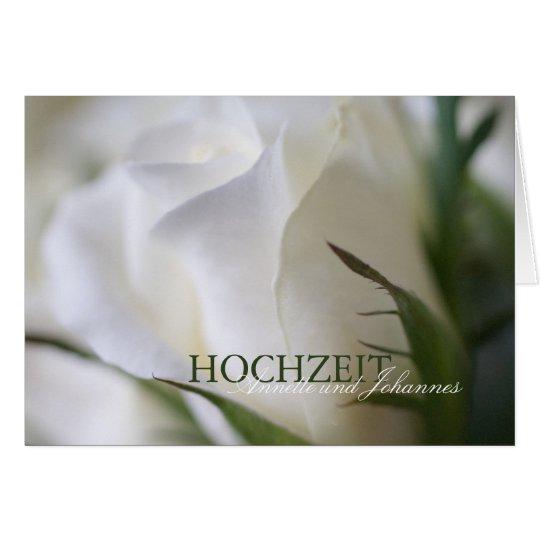 White rose • Wedding invitation