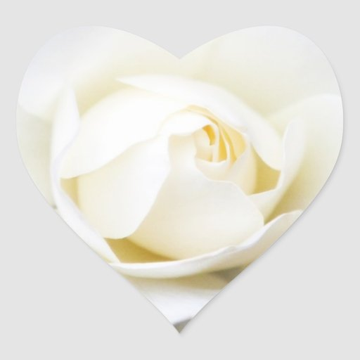 White rose wedding invitation envelope seal heart sticker