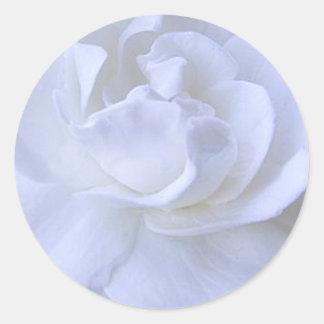 White Rose Wedding Sticker