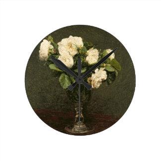 White Roses, 1875 (oil on canvas) Clocks