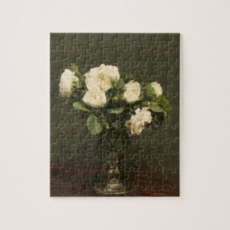 White Roses, 1875 (oil on canvas) Jigsaw Puzzle