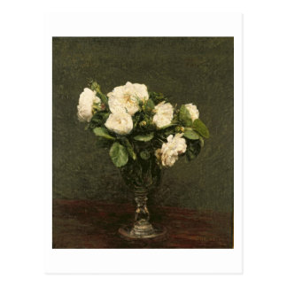 White Roses, 1875 (oil on canvas) Postcard