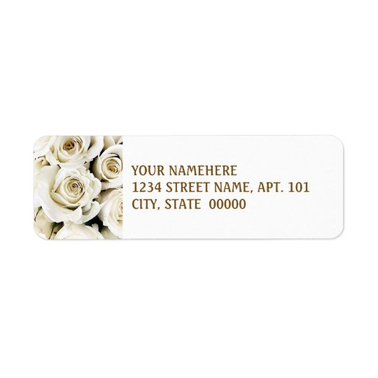 White Roses Address Labels