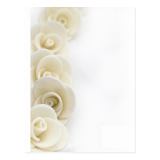 white roses background postcard