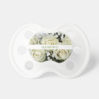 White Roses - BooginHead® Pacifier - HAMbWG