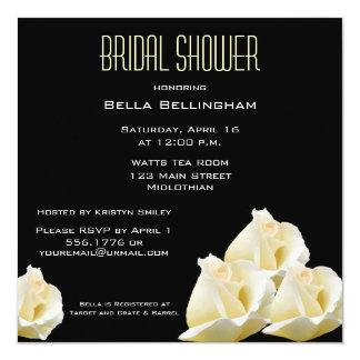 White Roses Bridal Shower Invitation