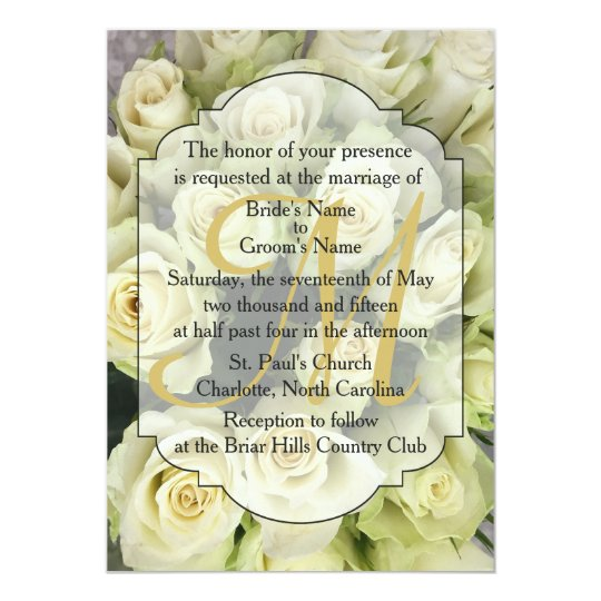 White Roses Champagne Blush Wedding Suite Card