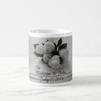 White roses classic white coffee mug
