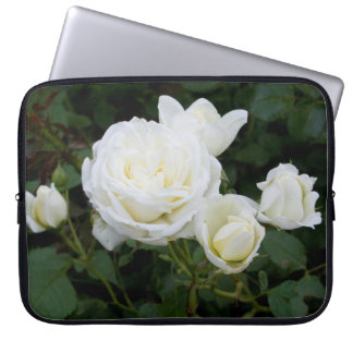 White Roses Computer Sleeves