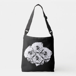 White roses crossbody bag