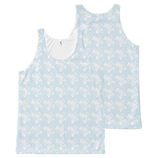 White--Roses-Floral-Blue-Style(c)-Tank-Top