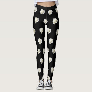 white roses leggings