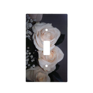 WHITE ROSES LIGHT SWITCH COVER