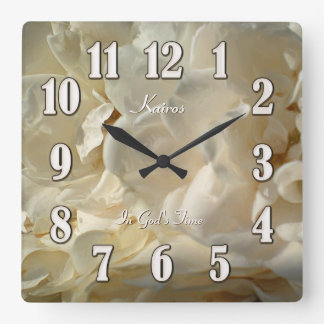 White Roses Painting In God's Time Square Clock