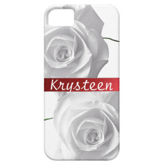White Roses Personalized iPhone 5 Case