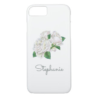 White Roses Pretty Watercolor iPhone 8/7 Case