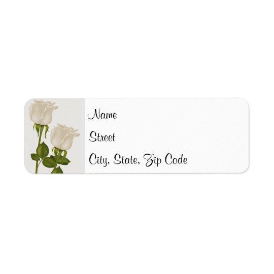 White Roses Return Address Label