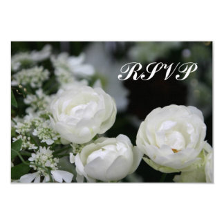 White Roses RSVP Wedding Invitation