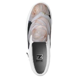 WHITE ROSES Slip-On SNEAKERS