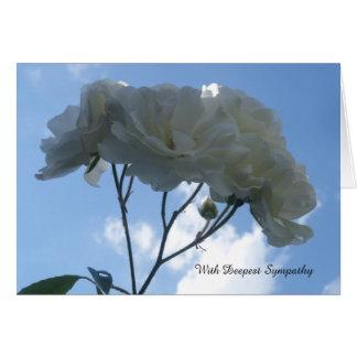 White Roses Sympathy Card