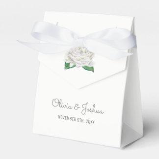 White Roses Wedding Favor Boxes