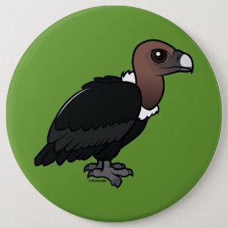 White-rumped Vulture 6 Inch Round Button