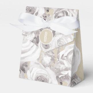 White Rustic Winter Roses Shabby Chic Kraft Favor Favor Box