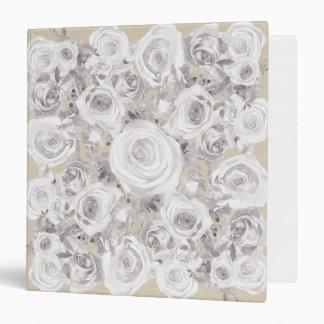 White Rustic Winter Roses Shabby Chic Wedding Binders