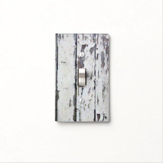 White Rustic Wood - Light Switch Cover