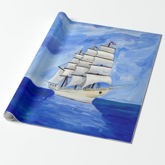 white sailboat on blue sea