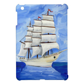 white sailboat on blue sea cover for the iPad mini