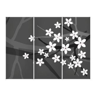 White Sakura  Wrapped Canvas Stretched Canvas Print
