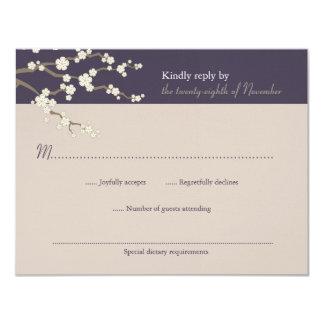 Zen wedding invitations announcements zazzle ca white sakura zen cherry blossoms wedding rsvp card stopboris Gallery