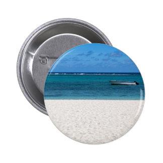 White sand beach of Flic en Flac Mauritius overloo 2 Inch Round Button