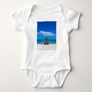 White sand beach of Flic en Flac Mauritius overloo Baby Bodysuit