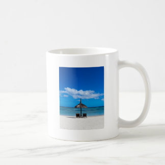 White sand beach of Flic en Flac Mauritius overloo Coffee Mug
